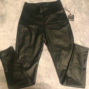 Faux leather leggings size S